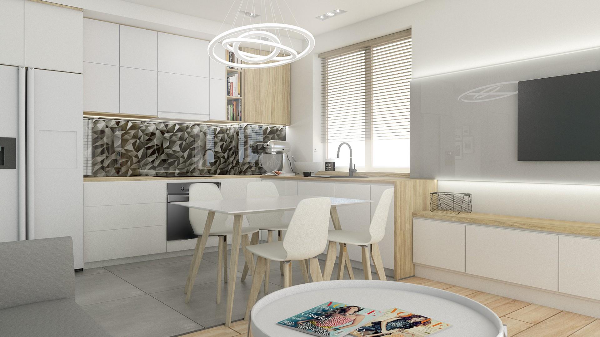 Salon Z Kuchnią Tiuk Studio Projektowanie I Aranżacja Wnętrz