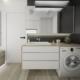 Tiuk Studio projekt łazienki na poddaszu I aranżacja łazienki piekary śląskie I projektowanie wnetrz piekary sl