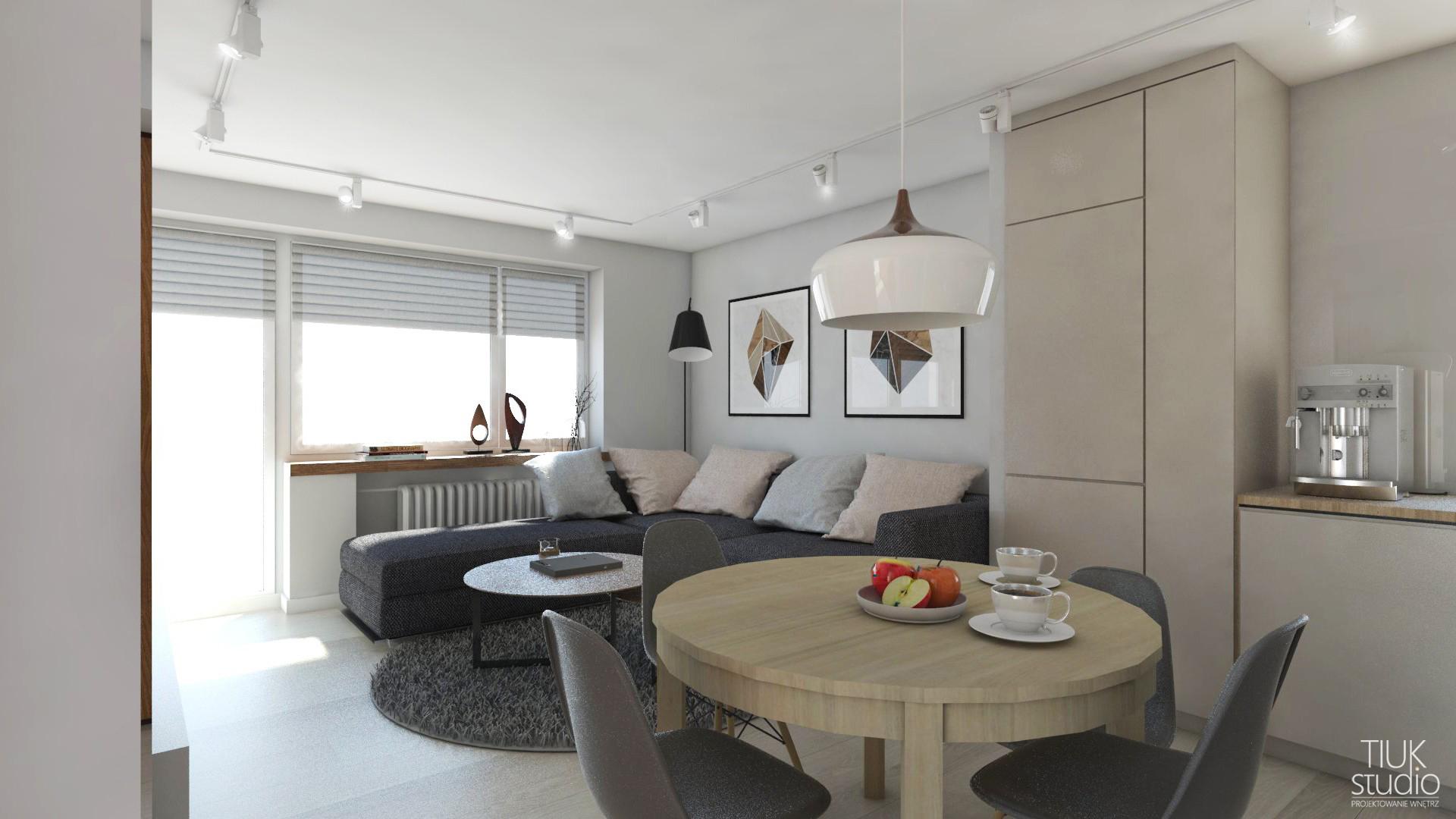 Salon Z Kuchnią W Bloku Tiuk Studio Projektowanie I Aranżacja Wnętrz