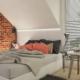 Tiuk Studio projekt sypialni na poddaszu I aranżacja sypialni w domu jednorodzinnym I projektowanie wnetrz pieka