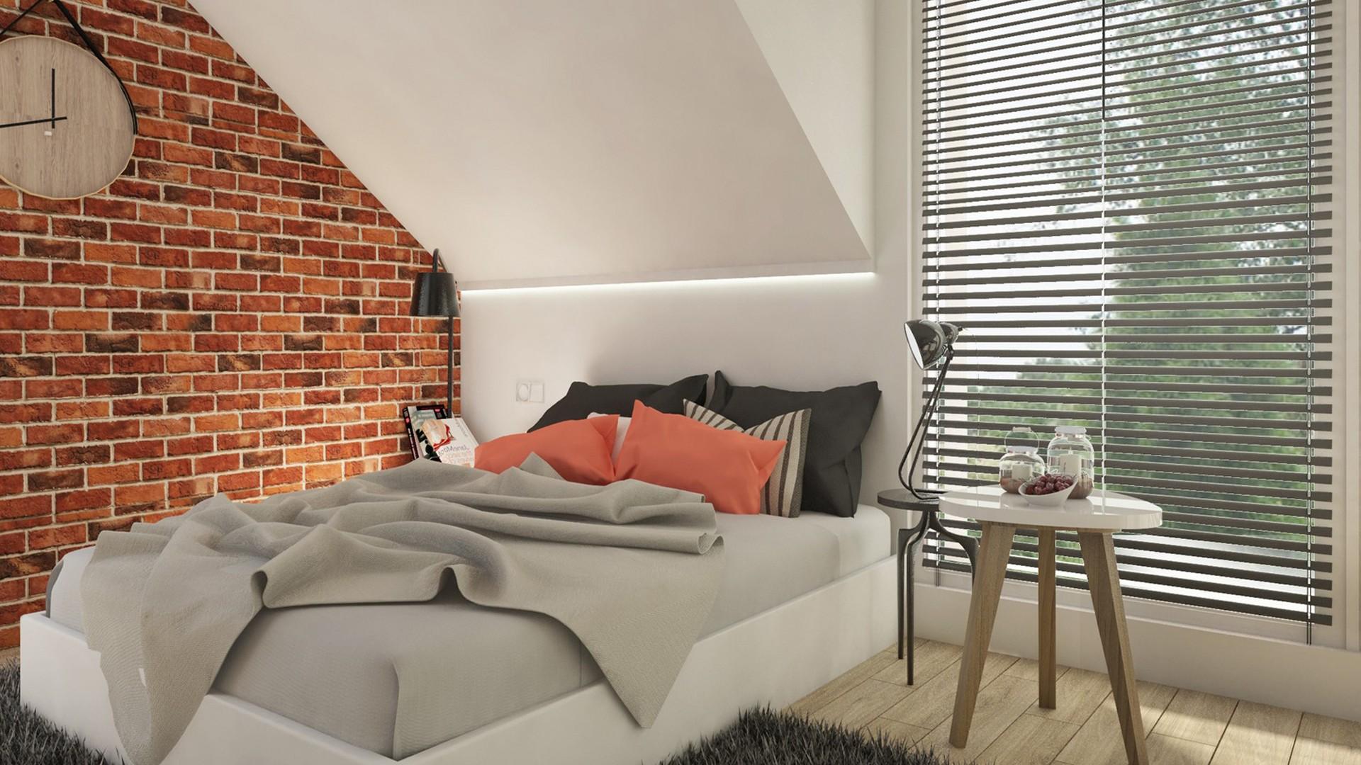Sypialnia Z Cegłą Na Poddaszu Projektowanie I Aranżacja
