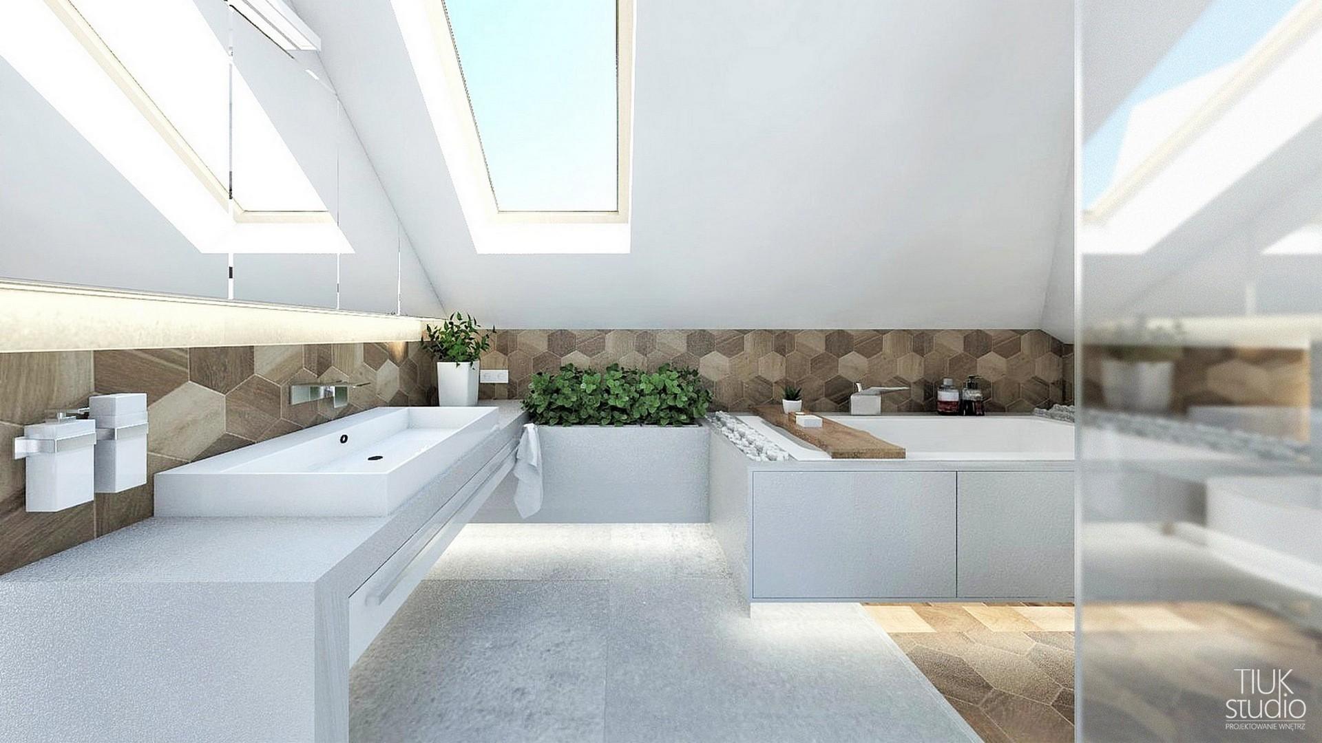 Nowoczesna łazienka Na Poddaszu Projektowanie I Aranżacja