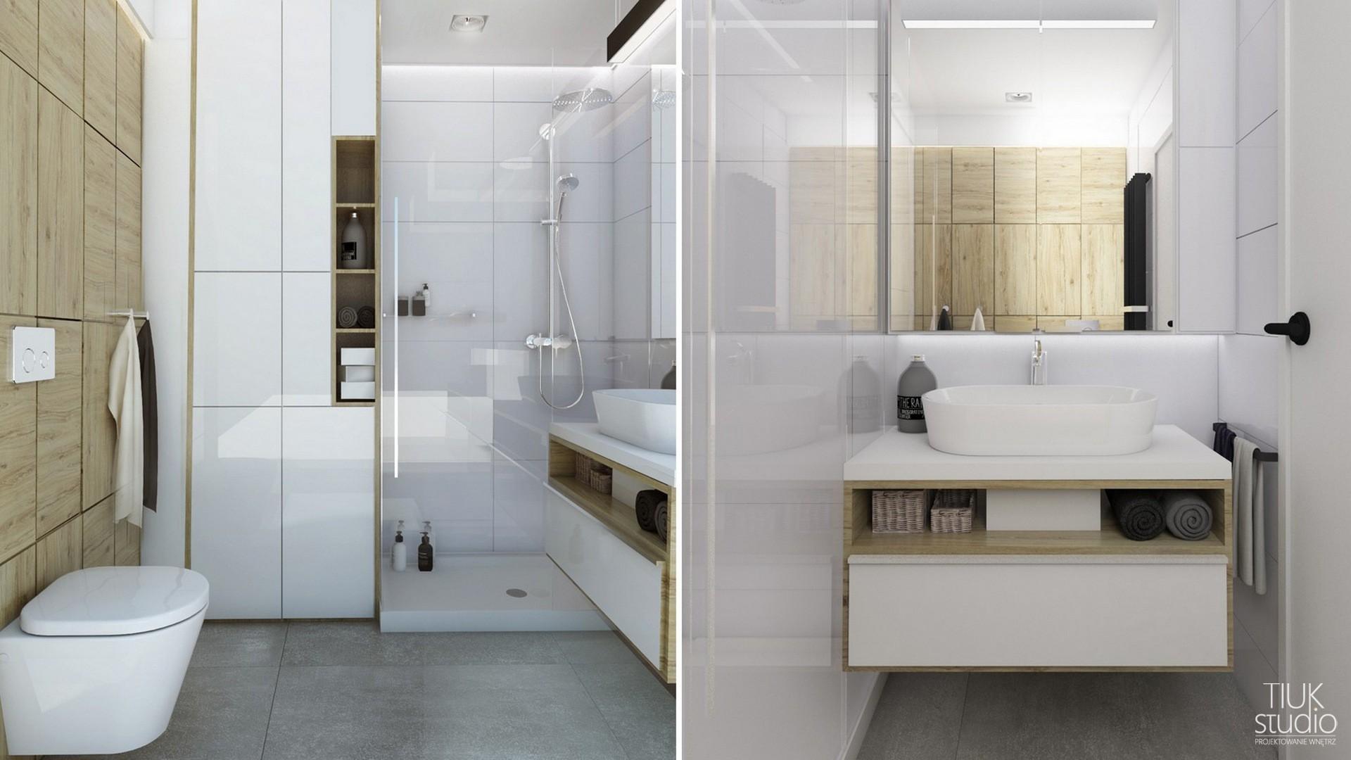 Mała łazienka W Bloku Projektowanie I Aranżacja Wnętrz śląsk
