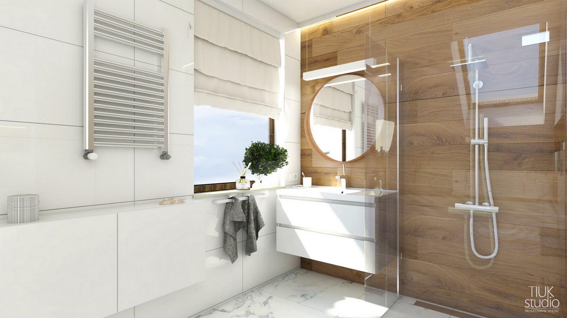 łazienka W Drewnie Na Poddaszu Projektowanie I Aranżacja